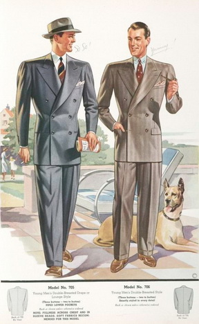 Каталог мужской моды Detmer Woolens Newest Styles за 1939 год