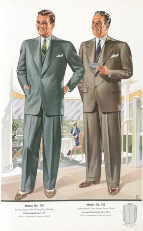 Мужская мода 1940-х годов