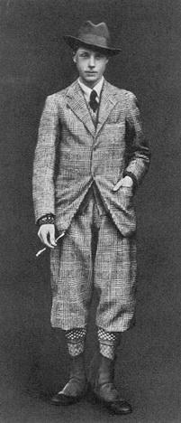 Принц Уэльский в костюме для гольфа